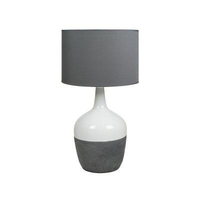 Lámp. cerámica bl/gris - Imagen 1