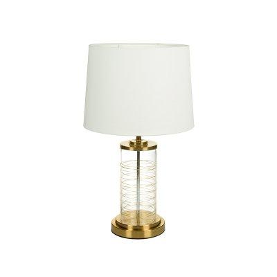 Lámpara dorada mesa - Imagen 1