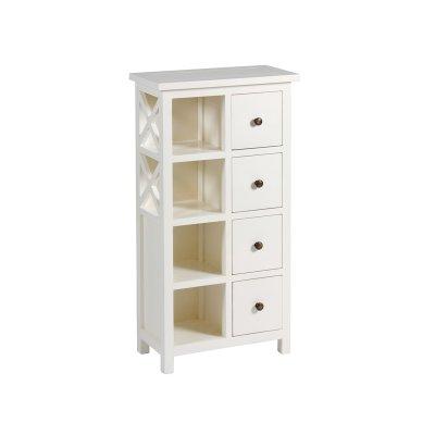 Mueble blanco de 4 cajones - Imagen 1