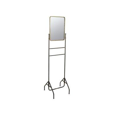 Espejo metal con soporte oro - Imagen 1