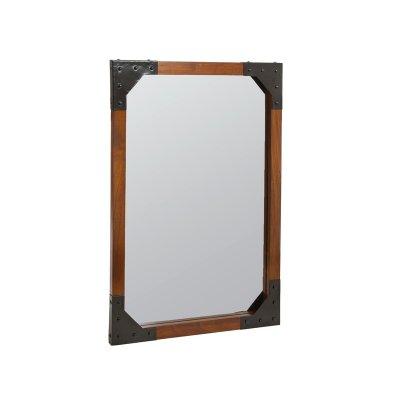 Espejo pared madera y metal - Imagen 1