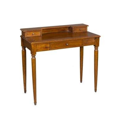 Mesa escritorio color nogal - Imagen 1