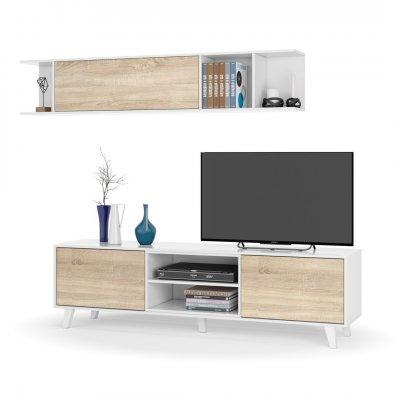 Mueble Salón Blanco - Roble Stylus Plus - Colección Nórdica - Imagen 1