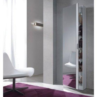 Zapatero con espejo Kristal Blanco - Imagen 1