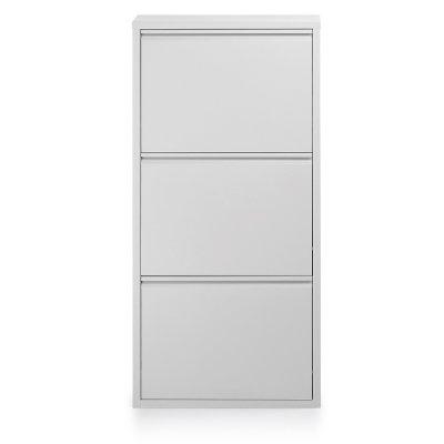 Zapatero 3 Puertas Blanco Metal - Imagen 1