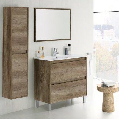 Mueble Lavabo + Espejo Dakota Color Nogal - Imagen 1