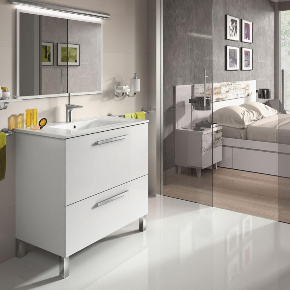 Mueble Baño Urban 80 + Espejo + Lavabo   Mobelfy