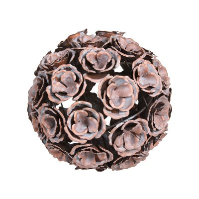 Bola metal flor color cobre en - Imagen 1