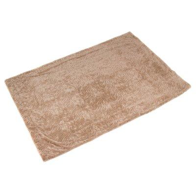 Manta con pelo color marrón - Imagen 1