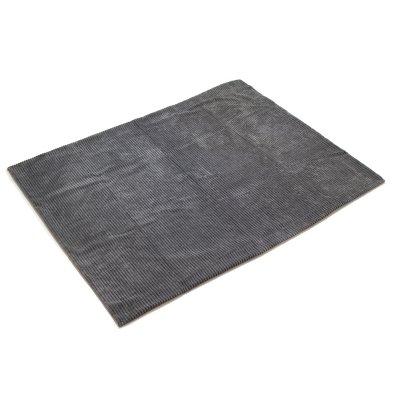 Manta de pana polar color gris - Imagen 1