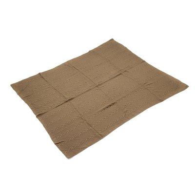 Manta de punto color marrón - Imagen 1