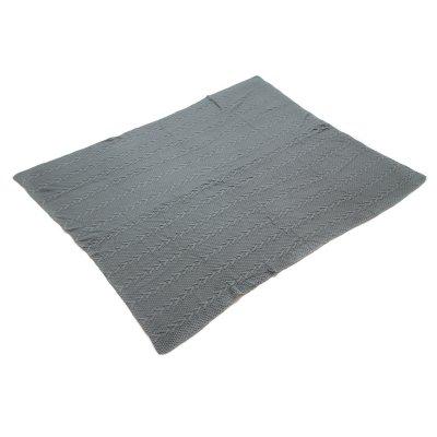 Manta de punto color gris - Imagen 1