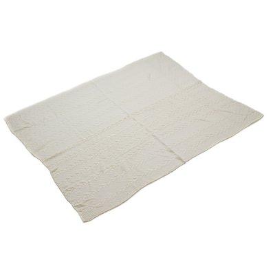 Manta de punto color blanco - Imagen 1