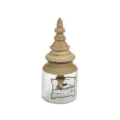 Caja de cristal con tapa de ma - Imagen 1