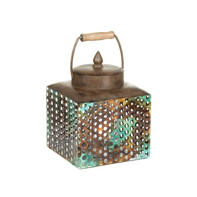 Caja c/t metal turq. - Imagen 1