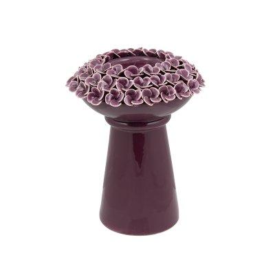 Candelabro con rosas púrpura - Imagen 1