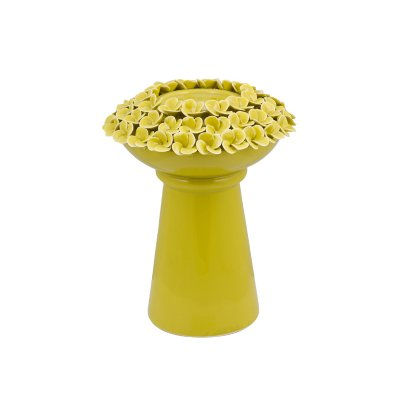 Candelabro con rosas verde - Imagen 1