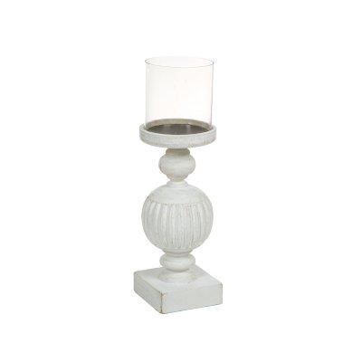 Candelabro de madera y cristal - Imagen 1