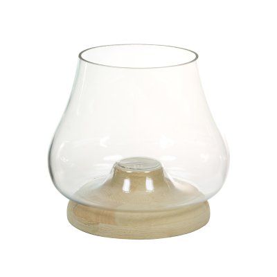 Portavelas de cristal con made - Imagen 1