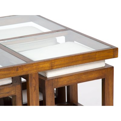 Mesa centro con 4 taburetes - Imagen 1