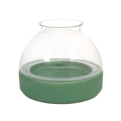 Candelabro cerámica y cristal - Imagen 1