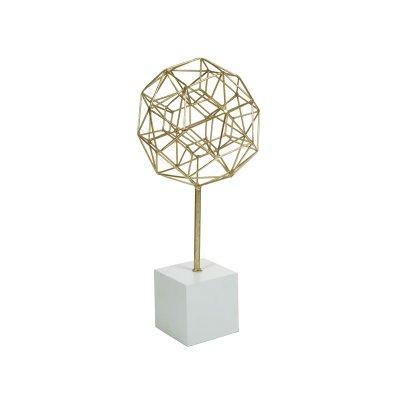 Fiigura poliedro  oro - Imagen 1
