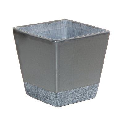 Macetero cerámica color gris - Imagen 1