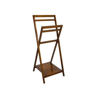 Toallero de pie en madera - Imagen 1