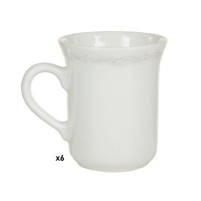Jgo. 6 tazas Provenza marrón - Imagen 1
