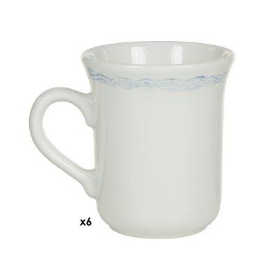 Jgo. 6 tazas/plato Provenza az - Imagen 1