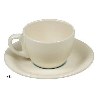 Jgo. 6 tazas café Espiral azul - Imagen 1