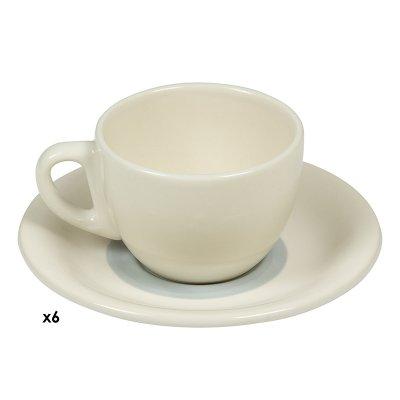 Jgos. 6 tazas cafe Espiral gri - Imagen 1