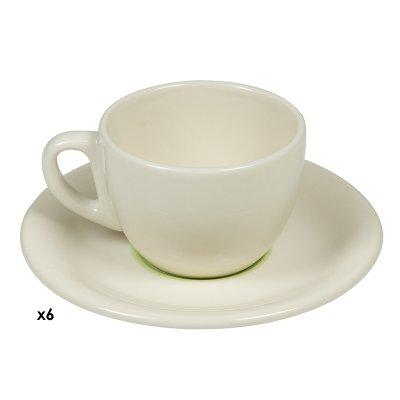 Jgos. 6 tazas cafe Espiral ver - Imagen 1