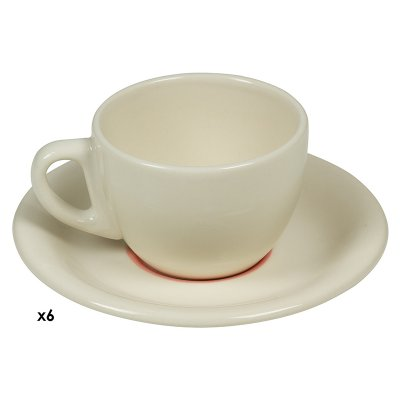 Jgos. 6 tazas cafe Espiral ros - Imagen 1