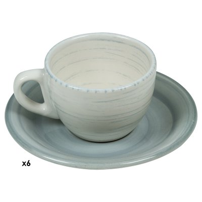 Jgos. 6 tazas cafe Twist azul - Imagen 1