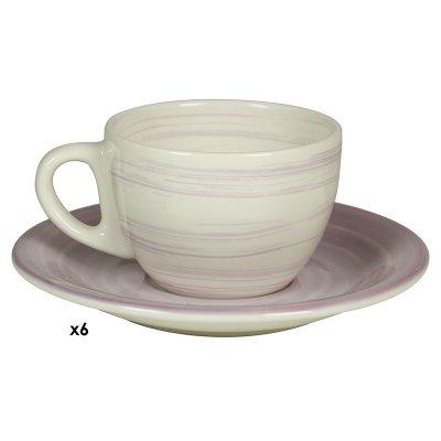 Jgos. 6 tazas cafe Twist lila - Imagen 1