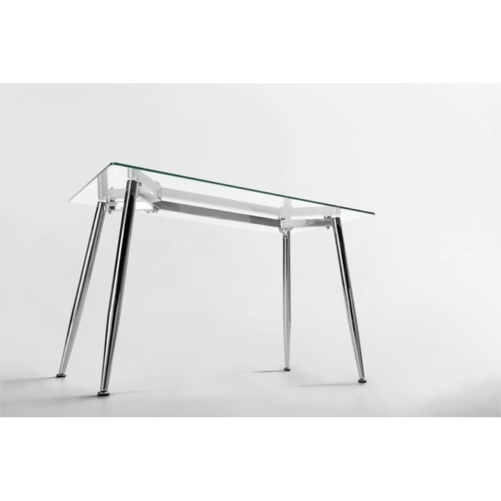 Mesa de oficina bugatti cristal varias medidas mobelfy for Mesa oficina cristal templado