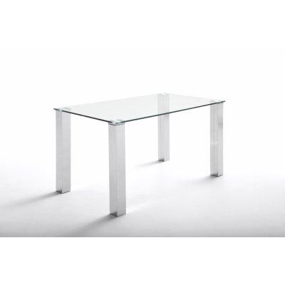 Mesa Oficina Eco Chantal Cristal y Acero Varias Medidas