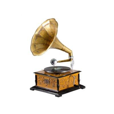 Gramófono cuadrado con grabado - Imagen 1