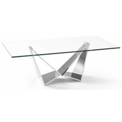 Mesa Centro Moderna Acero Inoxidable Pulido Modelo Nani - Imagen 1