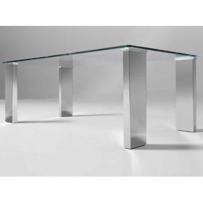 Mesa Centro Acero - Cristal Modelo Eco Irina - Imagen 1