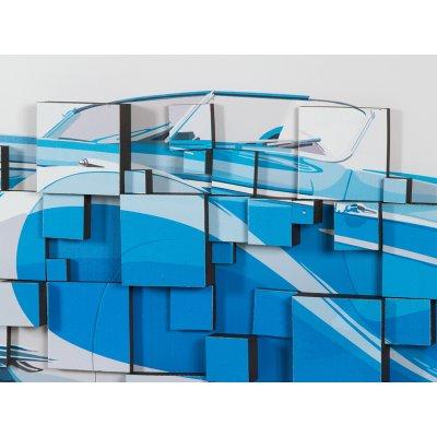 Cuadro 3D coche azul - Imagen 1