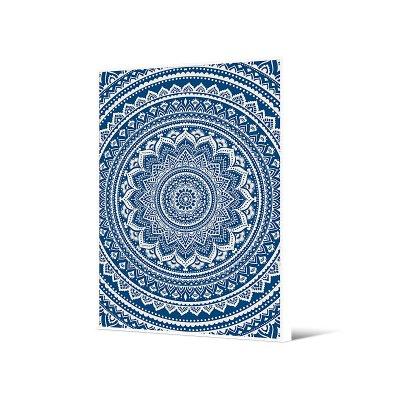 Cuadro mandala azul - Imagen 1