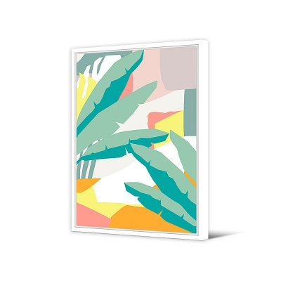 Cuadro hojas abstracto - Imagen 1