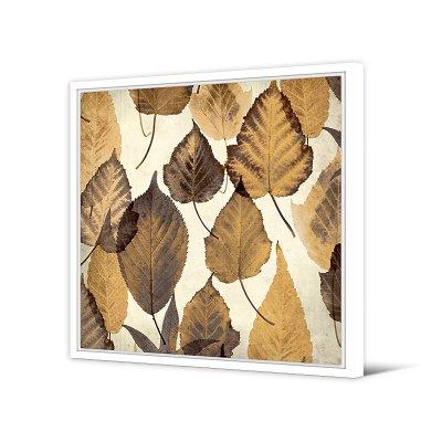 Cuadro hojas marrón - Imagen 1