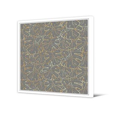 Cuadro hojas gris - Imagen 1