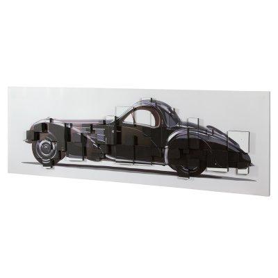 Cuadro 3D coche negro - Imagen 1