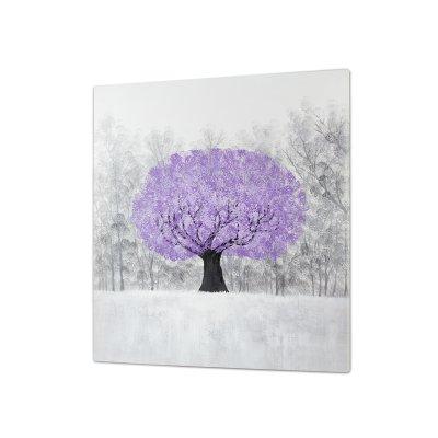 cuadro óleo árbol - Imagen 1