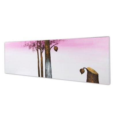 cuadro óleo árbol purpurina - Imagen 1
