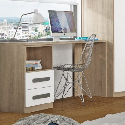 Escritorio Dormitorio Juvenil Arena-Blanco Modelo Nebraska - Imagen 1